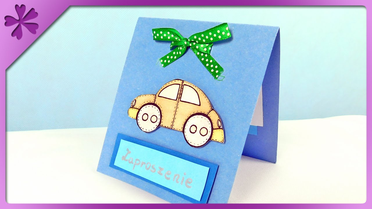 DIY First birthday invitation card ENG Subtitles Speed up 251