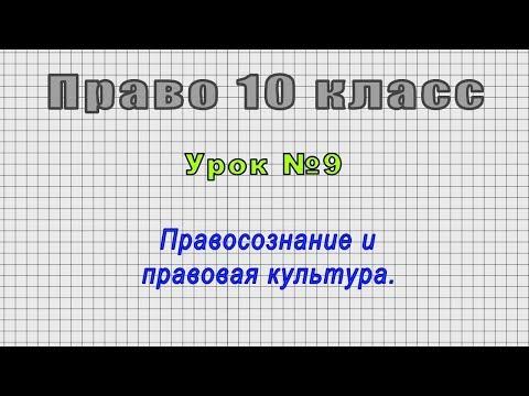 Право 10 класс (Урок№9 - Правосознание и правовая культура.)