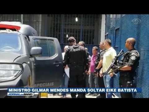 Gilmar Mendes manda soltar Eike Batista