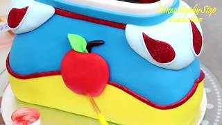 PRINCESS Snow White Purse Cake by Cakes StepbyStep