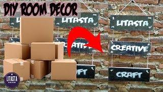DIY ROOM DECOR | Ide Kreatif Dekorasi kamar dari bahan kardus bekas