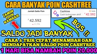 Download lagu CARA MENAMBAH BANYAK POIN CASHTREE - 1 HARI BISA DAPAT 20.000   GIVEAWAY!