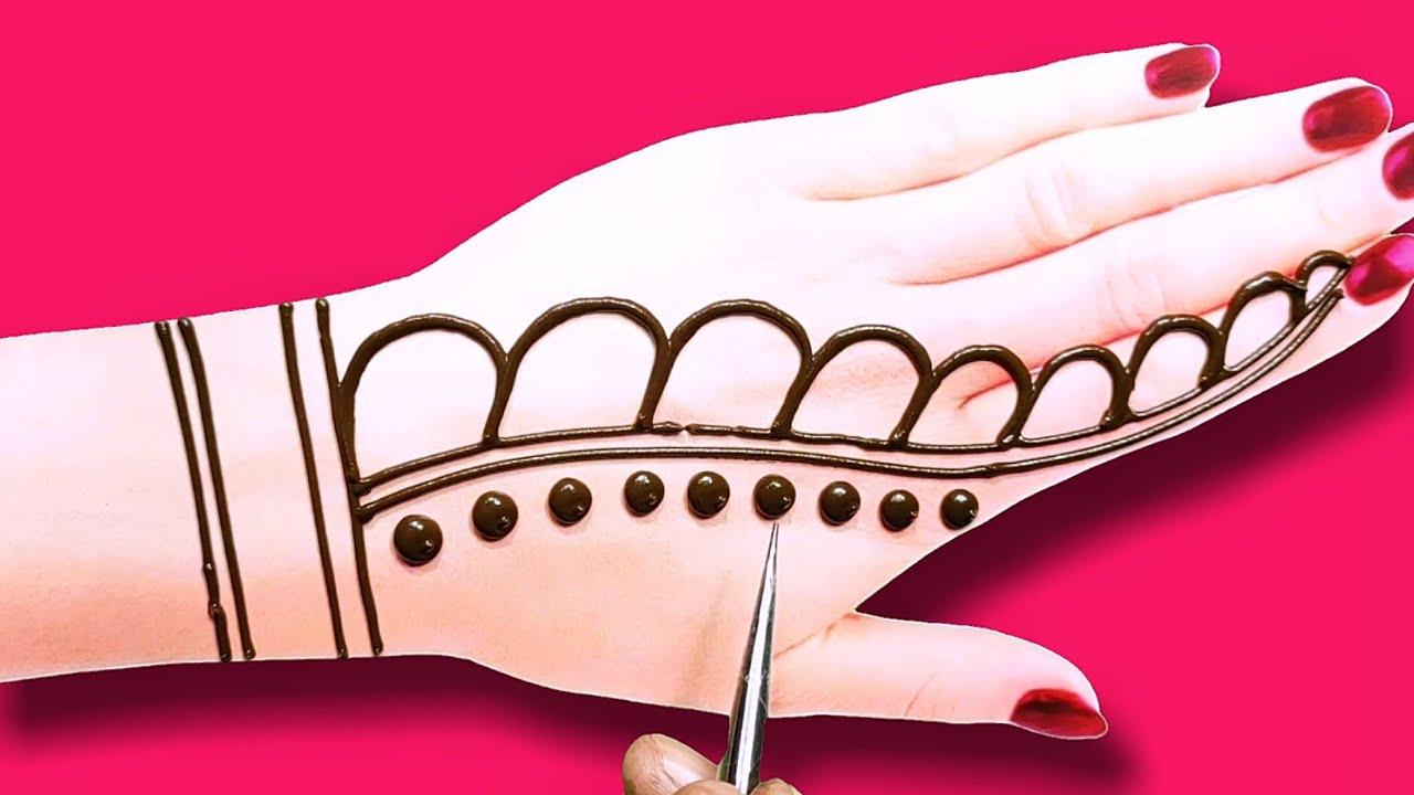 simple,easy arebic henna mehndi design - latest beautiful backhand mehndi design - lets create craft