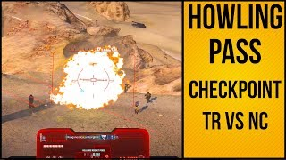 Howling Pass Checkpoint TR Pushes Back NC | 4.20.2018 | Planetside 2