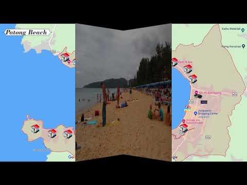 Phuket Map. Thailand, Map To Patong,Beach  Kata,  Surin,  Karon, Kamala,  Phuket Town Thailand