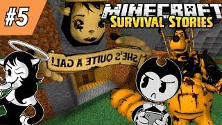 BENDY FINDS ALICE ANGEL'S SECRET CAVE! || Minecraft Survival Episode 5
