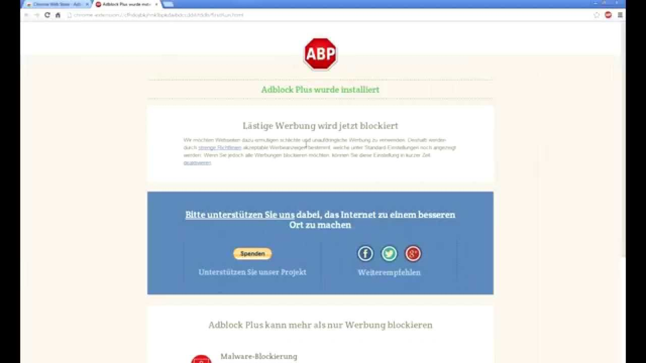 how to get adblock plus to work on chrome