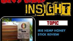 IRIE HEMP HONEY STICK REVIEW (hemp extract oil)