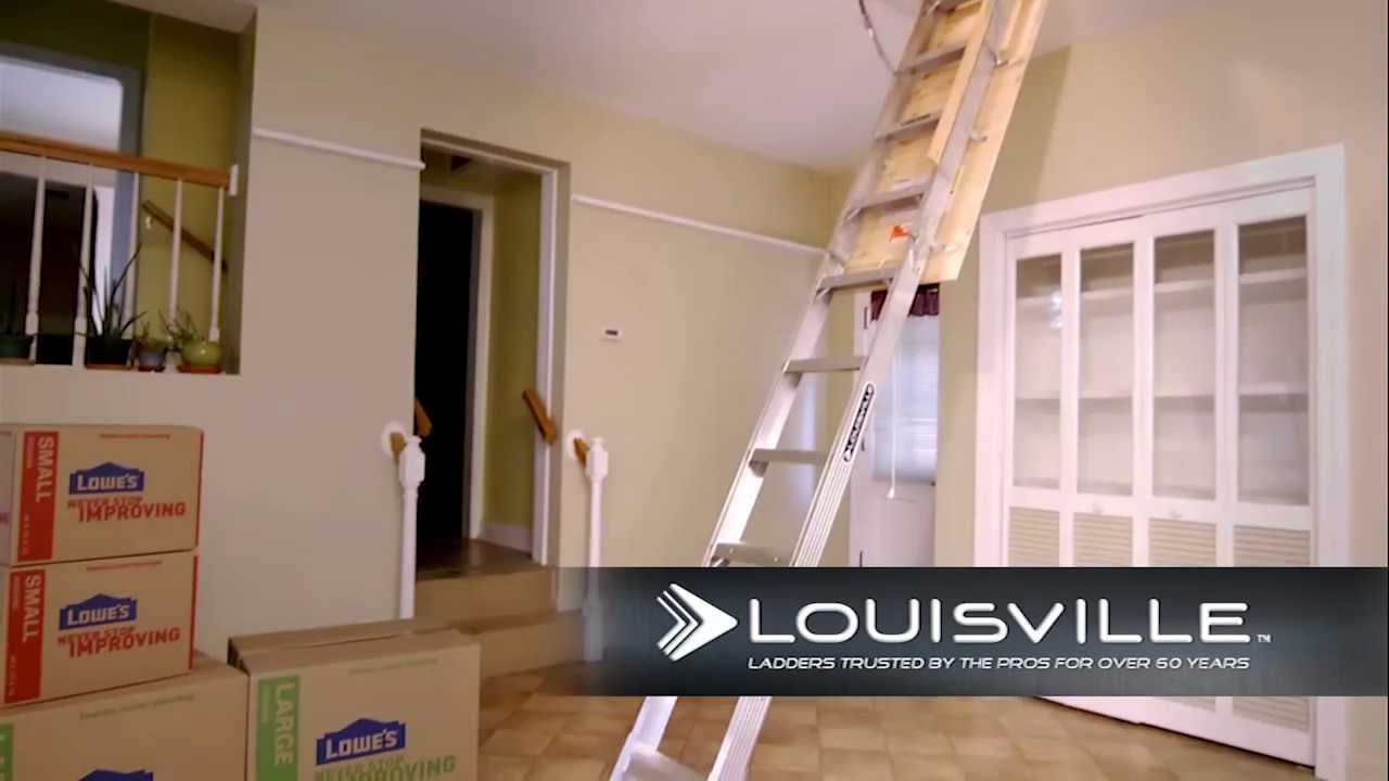 Louisville Ladder Elite Aluminum Attic Ladder Aa2210
