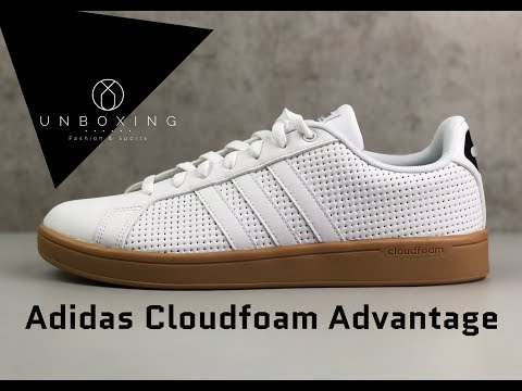 Adidas Cloudfoam Advantage 'ftwrwht/cblack' | UNBOXING & ON FEET | fashion shoes | 2019