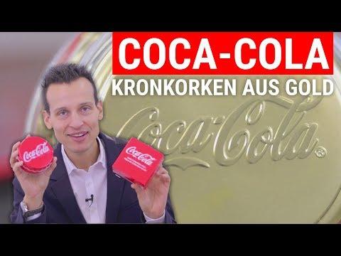 COCA-COLA Kronkorken aus Gold ⚡ Nur 250 Stück weltweit