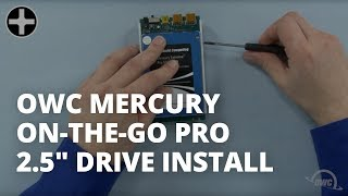 How to Install a 2.5-inch Hard Drive or SSD in an OWC Mercury On-The-Go Pro