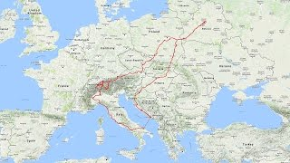 Moto trip from Belarus to Croatia and Alps 2016