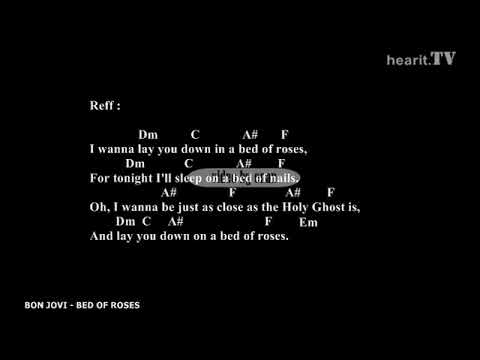Bon Jovi - Bed Of Roses Lyrics w/ Chords