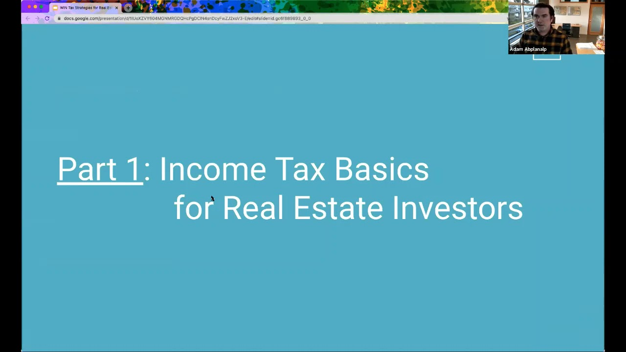 Tax Strategies for Real Estate Investors with Adam Abplanalp
