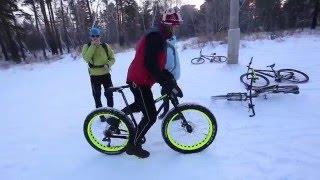 ST-BIKE тест fat-bike AUTHOR SUMO 1 января ( - 23 гр.)