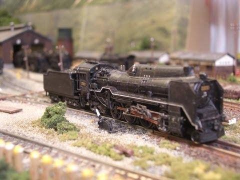 鉄道模型 蒸気機関車 ジオラマ走行シーン特集  Model Railroad Japanese steam locomotive