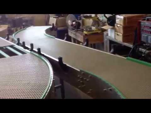Конвейер с  использованием   модульной ленты