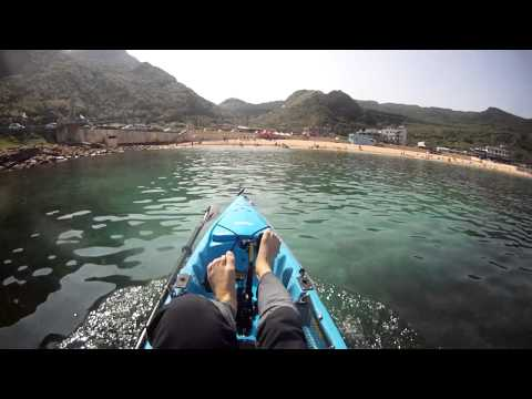Hobie kayak with ST Turbo Fins Testing with R11, Keelung TAIWAN