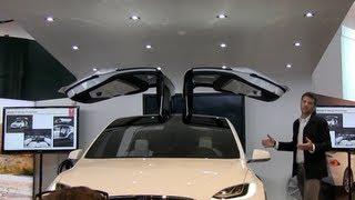 Tesla Model X revealed at the 2013 Detroit Auto Show