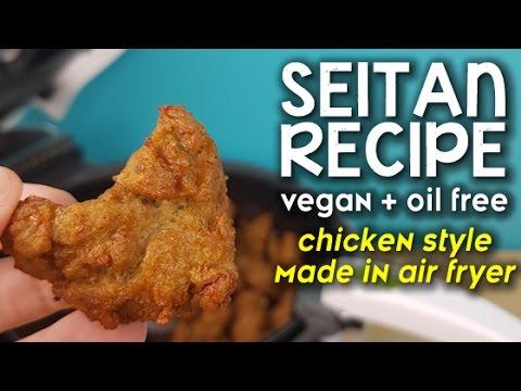 Easy Seitan Recipe - Oil Free #Vegan Meat Alternative | Made in Air Fryer | Protein Source