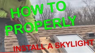 how to properly install a skylights