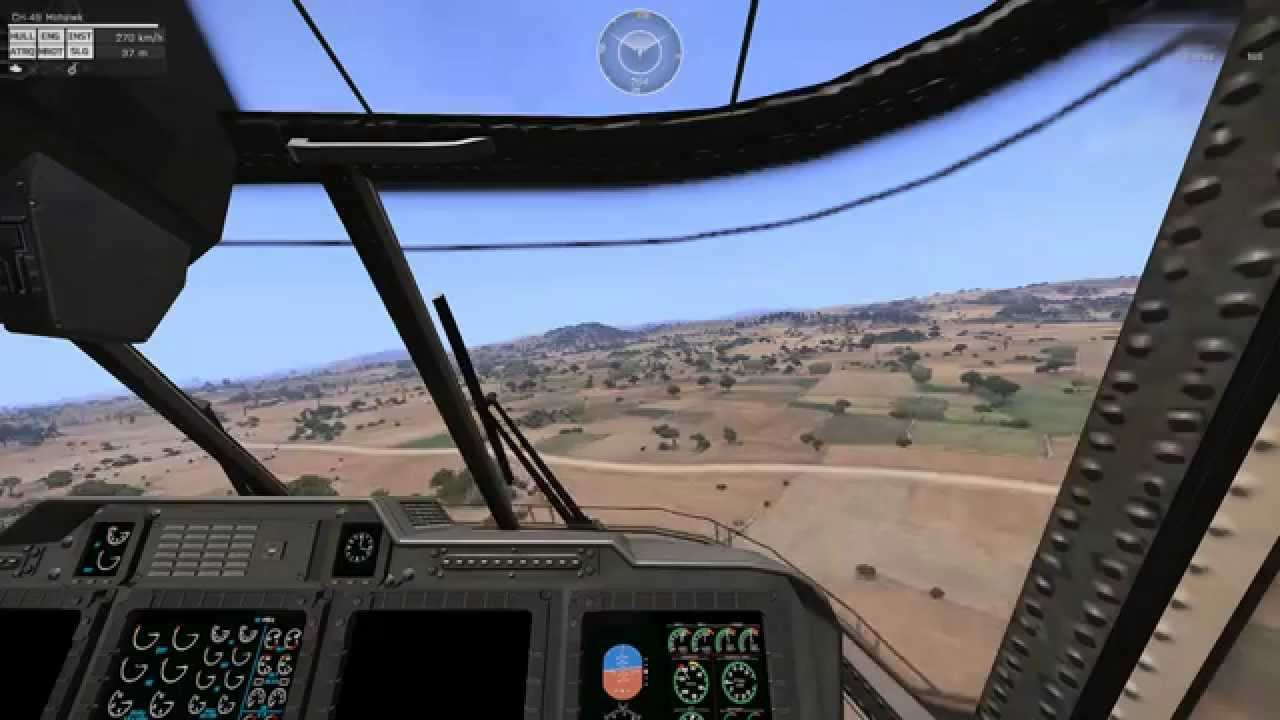 ARMA 3 [First person] Helicopter Landing Practice (1 5)