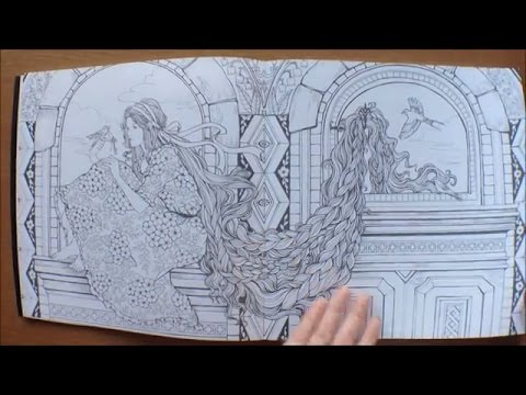 The Mysterious Library By Eunji Park Colouring Book Flipthrough Slower Version As Requested