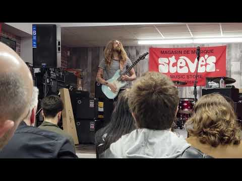 Nick Johnston in Montreal 2018 at Steve's Music Store