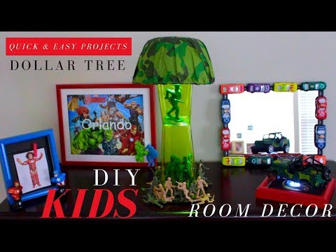DIY MARVEL ROOM DECORATIONS | DOLLAR TREE ROOM DECOR
