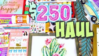 HUGE HAUL!! $250 of ART SUPPLIES & DECOR