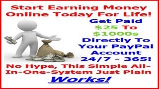 Представьте Себе, Зарабатывать Деньги в Интернете с Автоматизированной Системой Зарабатывания Денег Онлайн, Платя 100 Процентов Com! | Системы Заработка Работающие на Автомате