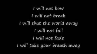 Repeat youtube video Breaking Benjamin - I Will Not Bow (Lyrics)