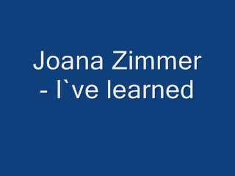 joana zimmer -I`ve learned