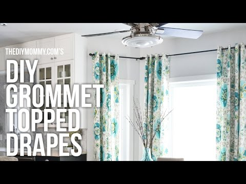 DIY Grommet Top Drapes // My favourite style of curtains to