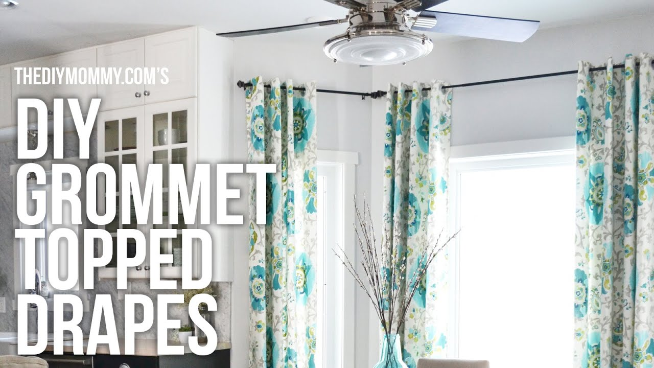 Making curtains with grommets - Diy Grommet Top Drapes My Favourite Style Of Curtains To Make