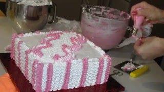 кремовое оформление торта