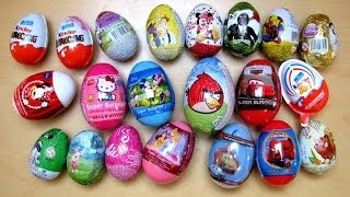 21 Surprise Eggs Kinder Surprise Cars 2 Angry Birds Disney Barbie Spiderman