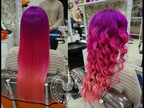 Как покрасить волосы в розовый, лавандовый,  фиолетовый цвет красителем Антоцианин