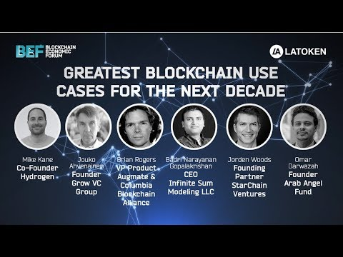 Greatest Blockchain Use Cases for the Next Decade | BEF SF 2018