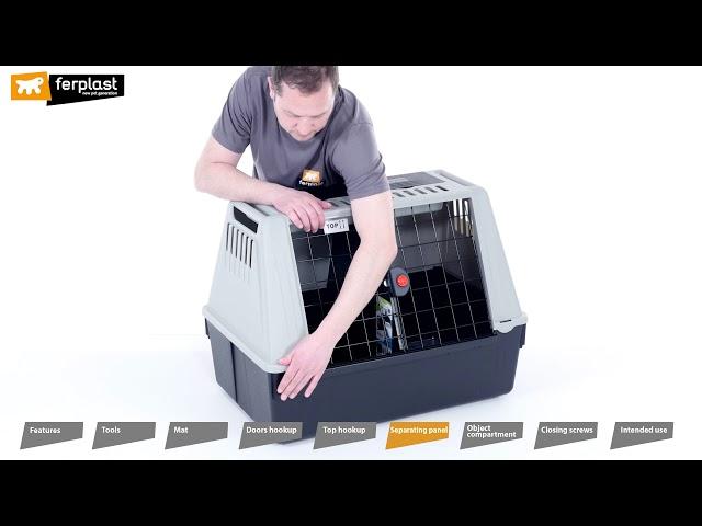 Atlas Car dog transport box by Ferplast ENG