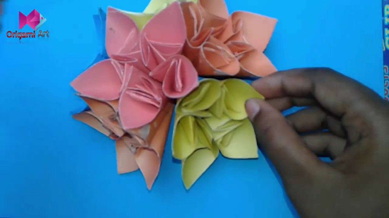 How to make kusudama flower ball kusudama flower bouquet how to make kusudama flower ball kusudama flower bouquet origami flower ball craftastic izmirmasajfo