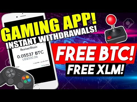 FREE BTC And XLM From Playing This Games! Instant Withdrawal!