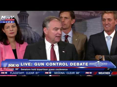 MUST WATCH: Senators Hold Press Conference to Announce Bipartisan Proposal on Gun Control