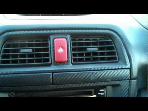 JDM Subaru WRX STi red illuminated hazard button switch