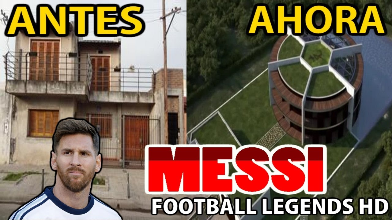casas de jugadores de futbol antes y despues