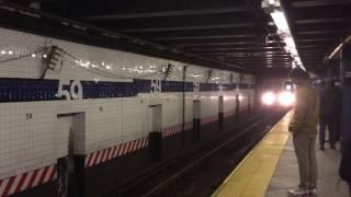【アメリカ】 ニューヨーク地下鉄 A系統 59丁目-コロンバス・サークル駅 New York City Subway A train 59th Street Station (2016.4)