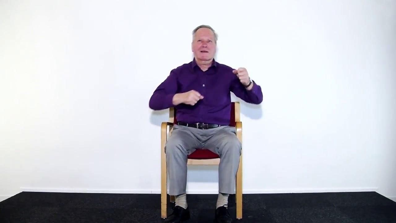 Extreem Oefeningen voor ouderen (stoel); oefening 1 - YouTube #AK18