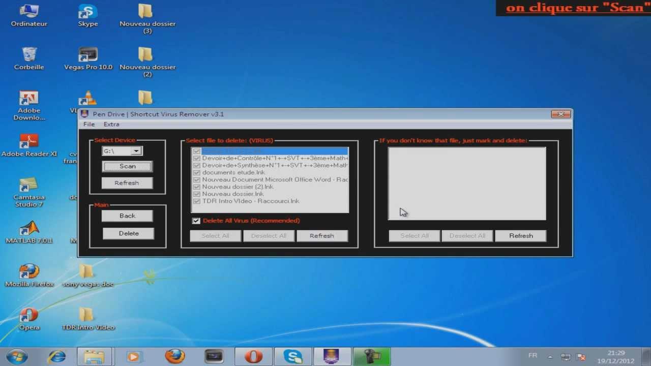 raccourci virus shortcut remover