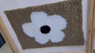 총(터프팅 건)으로 수제 카펫 만들기. Make a c…